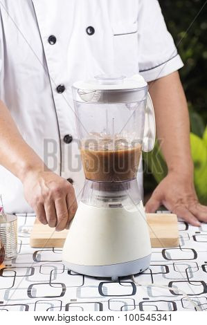 Chef Turn On Switch Blender