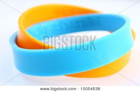 rubber bracelet.