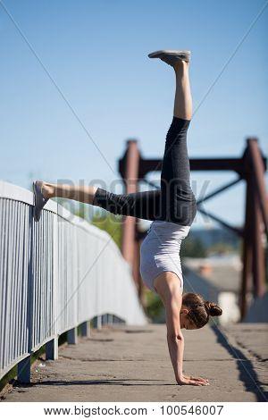 Street Yoga: Adho Mukha Vrikshasana Variation