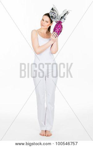 Woman Holding Easter Egg