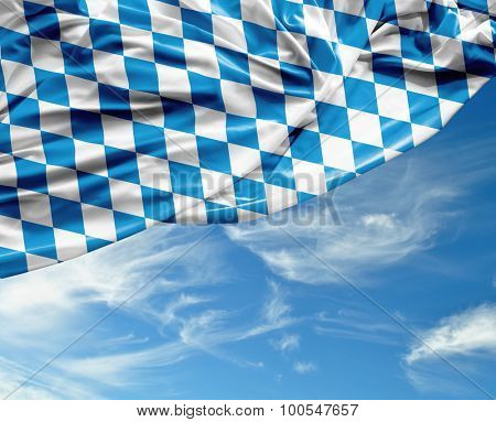 Bavarian waving flag on a beautiful day