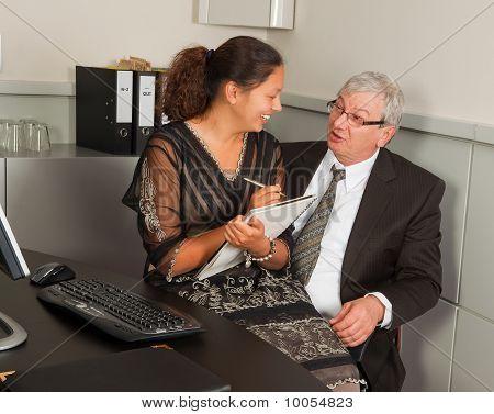 Manager And Secretary Romance