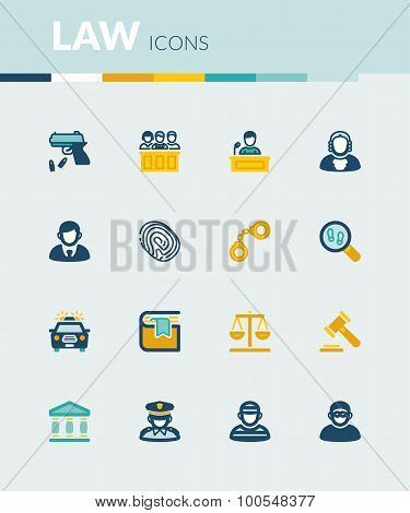 Law Colorful Flat Icons