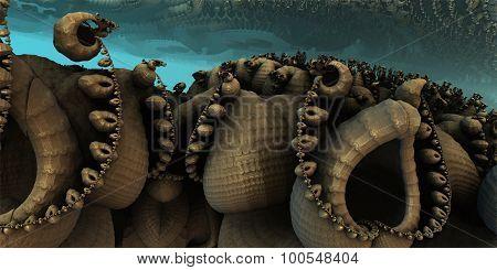Undersea animal shells