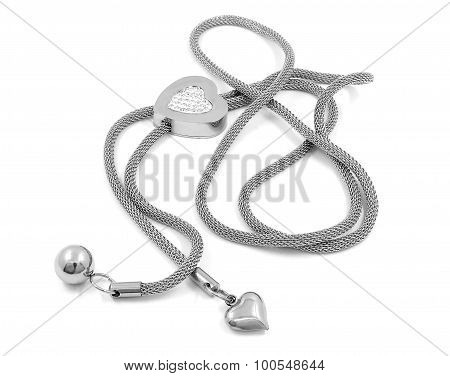 Lady's necklace, surgical stainless steel