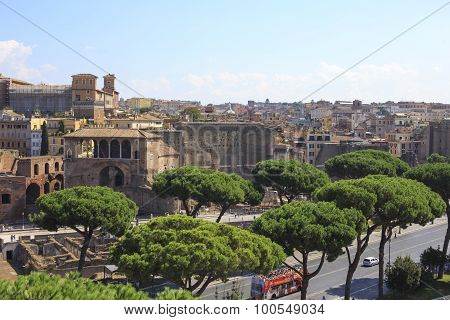 Forum Of Augustus In The Imperial Fora, Rome, Italy