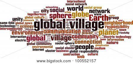 Global Village Word Cloud