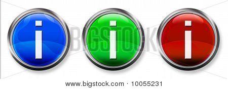 Info 3-D RGB Buttons