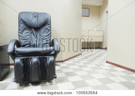 Leather Massage Chair in the lobby