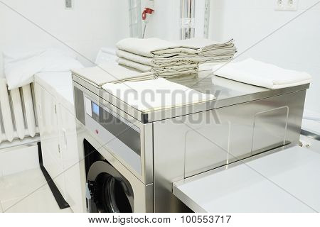 washing machine with a towel