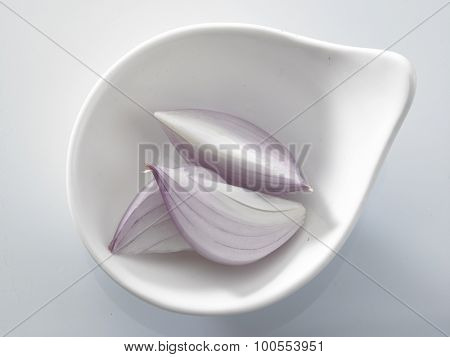 ingredient onion in a white bowl