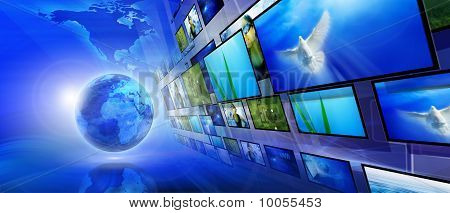Blue internet background