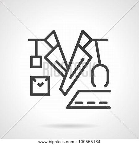 Black line doctor vector icon