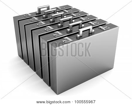 A Row Of Briefcases