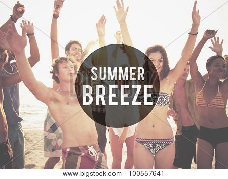 Summer Breeze Beach Friendship Holiday Vacation Concept