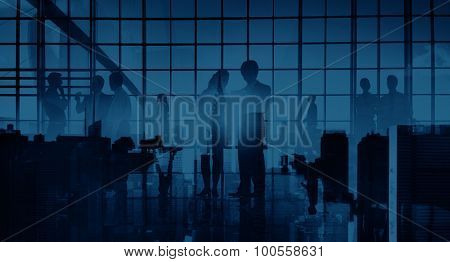Business Professional Communication Office Cityscape Concept