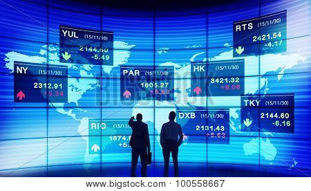 Business People Discussion Stock Market Concept