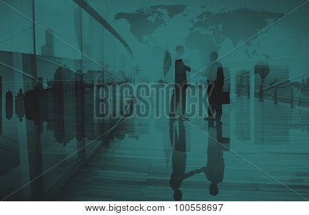 Businessmen Handshake Corporate Greeting Communication Concept
