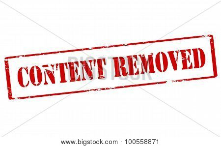 Rubber stamp with text content removed inside vector illustration