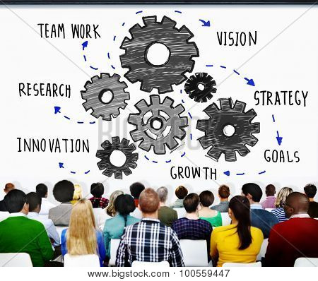 Teamwork Research Vision Strategy Goals Growth Innovation Concept