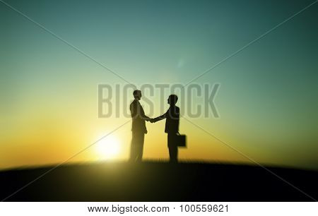 Businessmen Handshake Deal Business Partnership Concept