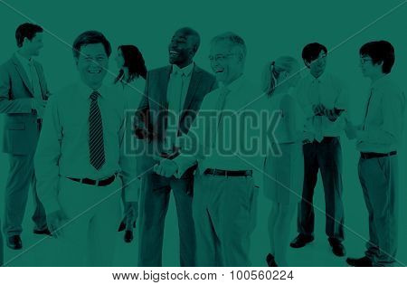 Business People Discussion Communication Cooperation Concept
