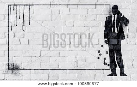 Businessman On the Phone Communication Copy Space Concept