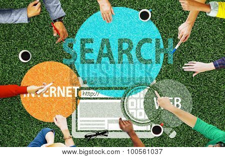 Search Internet Web Technology Communication Connection Concept
