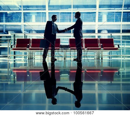 Businessmen Handshake Contract Greeting Business Concept