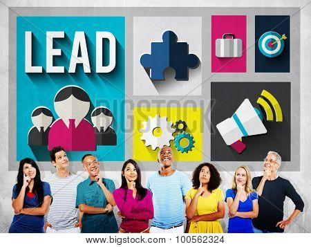 Lead Leadership Management Mentor Boss Concept