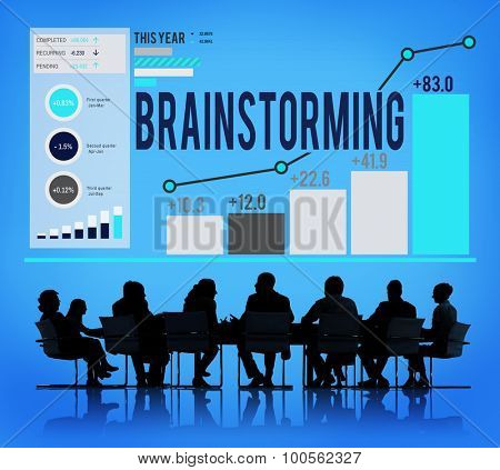 Brainstorming Business Analysis Strategy Research Concept