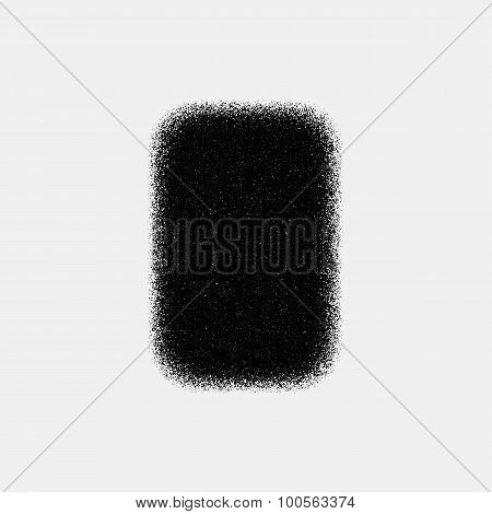 Black Abstract Square Badge