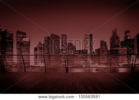 Cityscape Architecture Building Business Metropolis Concept