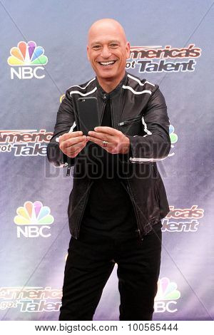 NEW YORK-AUG 11: Comedian Howie Mandel attends the 'America's Got Talent' season 10 taping at Radio City Music Hall on August 11, 2015 in New York City.
