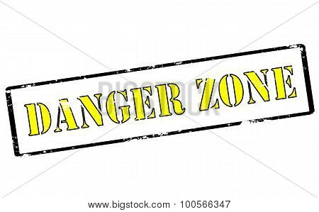 Rubber stamp with text danger zone inside vector illustration