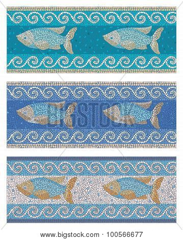 Seamless Mosaic In Marine Style