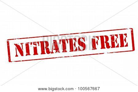 Rubber stamp with text nitrates free inside vector illustration