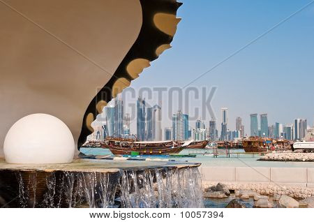 The Pearl Landmark On The Doha Corniche