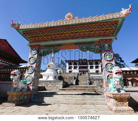 Gateway To Tengboche Gompa Or Monastery