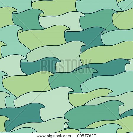 Abstract Background Of Stylized Fish.