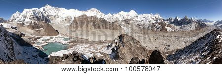 Beautiful Panoramic View Of Mount Cho Oyu