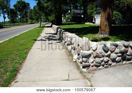 Sidewalk Along West Bluff Drive