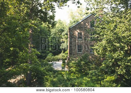 Old stone house in the forest