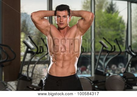 Young Man With Six Pack