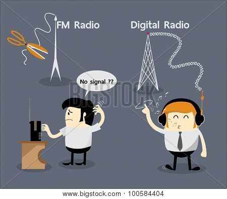 FM radio no signal, Digital radio, Cancel FM radio frequency