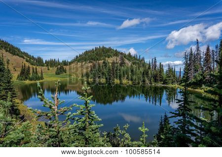 Tod Lake in Summer under a Beautiful Sky