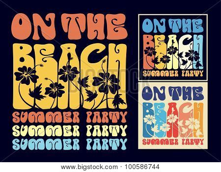 Vintage typography on the beach design