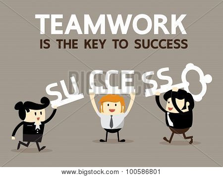 Teamwork is the key to success