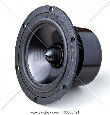 closeup image of woofer speaker