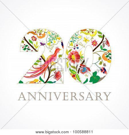20 anniversary folk logo.